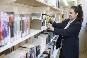 Student borrowing from our library